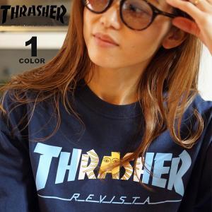 スラッシャー Tシャツ THRASHER ARGENTINA S/S T-SHIRTS 半袖 TEE メンズ レディース ユニセックス プリント ネイビー S-XL|rifflepage