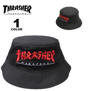 スラッシャー ハット THRASHER GODZILLA BUCKET HAT バケットハット 帽子 ブラック 黒 メンズ レディース|rifflepage