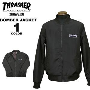 スラッシャー THRASHER ジャケット BOMBER JACKET メンズ ブラック 黒 S-XL|rifflepage