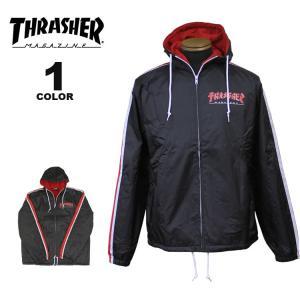 (公式)スラッシャー ジャケット THRASHER GODZILLA TRACK JACKET インポート メンズ ブラック 黒 S-XL rifflepage