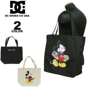 ディーシー シューズ トートバック DC SHOES 19 MICKEY PRINT CANVAS TOTE BAG ディズニー DISNEY ミッキーマウス メンズ レディース 全2色|rifflepage