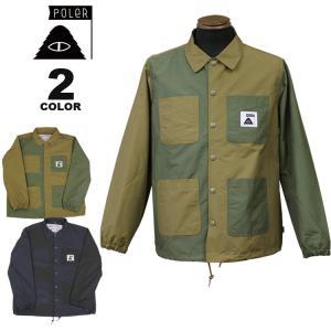 ポーラー コーチジャケット POLER SUMMIT COVERALL COACH JACKET カバーオール ジャケット メンズ 全2色 S-L|rifflepage