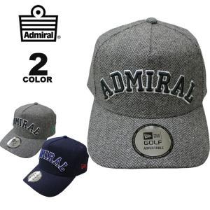 アドミラル ゴルフ ニューエラー Admiral GOLF NEWERA HERRINGBONE CAP 帽子 キャップ メンズ レディース 全2色 フリーサイズ|rifflepage