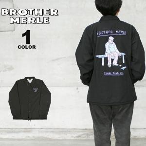 ブラザーマール コーチジャケット BROTHER MERLE Dead Bird WOVEN COACH JACKET ジャケット メンズ レディース ユニセックス 黒 ブラック S-XL ブラザーマーレ|rifflepage