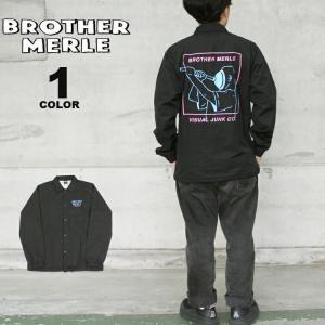 ブラザーマール コーチジャケット BROTHER MERLE Plumber WOVEN COACH JACKET ジャケット メンズ レディース ユニセックス 黒 ブラック S-XL ブラザーマーレ|rifflepage
