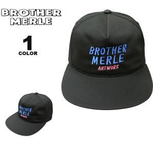 ブラザーマール キャップ BROTHER MERLE Plumber 5 Panel CAP キャップ 帽子 ハット メンズ レディース ユニセックス ブラック 黒 フリーサイズ ブラザーマーレ|rifflepage