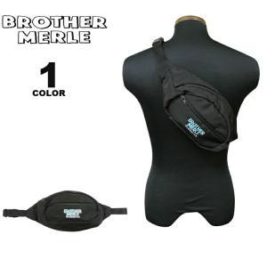 ブラザーマール ヒップバッグ BROTHER MERLE Norm in Hawaii FANNY PACK ボディバッグ ウエストポーチ WAIST BAG ブラック 黒 メンズ レディース ユニセックス|rifflepage