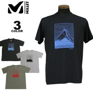 【SALE】 MILLET ミレー Tシャツ HUGO PENCILE MT TS S/S T-SHIRTS 半袖 TEE 全3色 メンズ|rifflepage