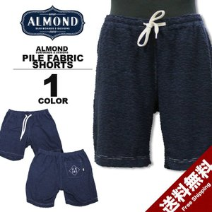 アーモンドサーフボードデザイン Almond Surfboards & Design PILE FABRIC SHORTS サマー ショーツ ハーフパンツ ネイビー メンズ rifflepage