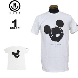 ネフ NEFF Tシャツ MICKEY MILANO S/S T-SHIRTS ディズニー ミッキーマウス 半袖 TEE メンズ ホワイト 白 S-XL|rifflepage
