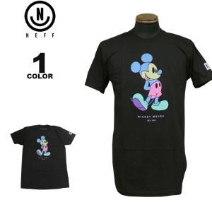 ネフ NEFF Tシャツ MICKEY PASTEL S/S T-SHIRTS ディズニー ミッキーマウス 半袖 TEE メンズ ブラック 黒 S-XL|rifflepage
