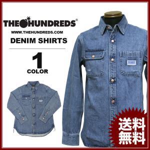 THE HUNDREDS HOWER L/S DENIM SHIRTS (ザ・ハンドレッツ デニム 長袖シャツ)|rifflepage