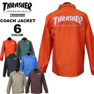 スラッシャー THRASHER コーチジャケット HOMETOWN COACH JACKET メンズ レディース 全6色 S-XL|rifflepage