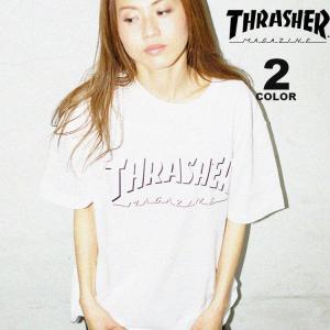 スラッシャー THRASHER Tシャツ SHADOW LOGO S/S T-SHIRTS ロゴTEE メンズ レディース 全2色 S-XL|rifflepage