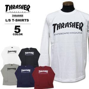 スラッシャー THRASHER ロンT MAG LOGO ロングTシャツ メンズ レディース 定番プリント 全5色 S-XXL|rifflepage