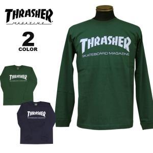(公式)スラッシャー Tシャツ ロンT THRASHER MAG LOGO L/S T-SHIRTS 長袖 TEE プリント メンズ レディース 全2色 S-XL|rifflepage