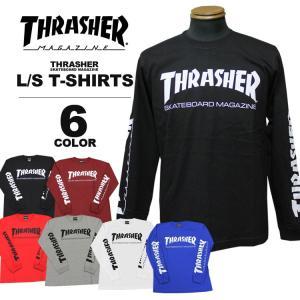 スラッシャー THRASHER ロンT MAG SLEEVE ロングTシャツ メンズ レディース 定番プリント 全5色 S-XXL|rifflepage