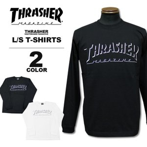 スラッシャー THRASHER ロンT SHADOW LOGO L/S T-SHIRTS ロングTシャツ メンズ レディース 全2色 S-XL|rifflepage