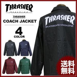 スラッシャー THRASHER コーチジャケット ブラック 黒 バーグ アイボリーグリーン ネイビー メンズ MAG COACH JACKET|rifflepage