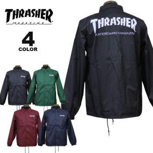 スラッシャー コーチジャケット THRASHER MAG LOGO COACH JACKET メンズ レディース ナイロン 全4色 S-XL|rifflepage