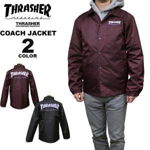 スラッシャー THRASHER コーチジャケット HOMETOWN POCKET COACH JACKET メンズ レディース 全2色 S-XL|rifflepage