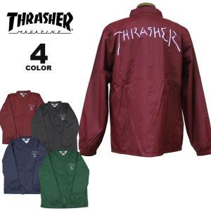 (公式)スラッシャー コーチジャケット THRASHER GONZ COACH JACKET メンズ レディース ナイロン Mark Gonzales マークゴンザレス 全4色 S-XL rifflepage