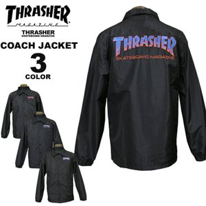 スラッシャー THRASHER コーチジャケット BBQ COACH JACKET メンズ レディース 全3色 S-XL|rifflepage