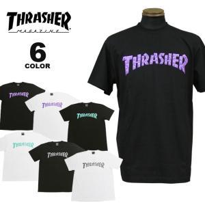 スラッシャー Tシャツ THRASHER Tシャツ POLYGON S/S T-SHIRTS ロゴ TEE メンズ レディース 全6色 S-XL|rifflepage