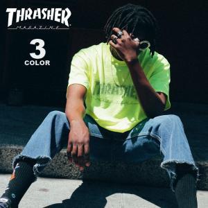 スラッシャー Tシャツ THRASHER Tシャツ Dot HOMETOWN NEON S/S T-SHIRTS ロゴ TEE メンズ レディース 全3色 S-XL|rifflepage