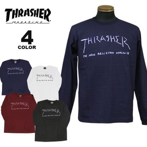 (公式)スラッシャー Tシャツ ロンT THRASHER New Religion Worldwide By Mark Gonzales L/S T-SHIRTS 長袖 TEE マークゴンザレス メンズ レディース 全4色 S-X|rifflepage