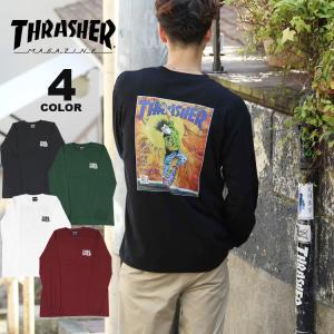 (直営店限定)(購入特典プレゼント)スラッシャー Tシャツ ロンT THRASHER SEP87 L/S T-SHIRTS 長袖 TEE バックプリント メンズ レディース ユニセックス 全4 rifflepage