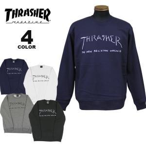 (公式)スラッシャー スエット トレーナー THRASHER New Religion Worldwide By Mark Gonzales CREW SWEAT クルースウェット マークゴンザレス メンズ rifflepage