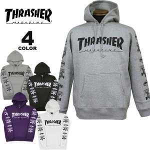 (公式)スラッシャー パーカー THRASHER MULTI-E HOODIE SWEAT PARKA プルオーバー パーカ スエット メンズ レディース 裏起毛スウェット 全4色 S-XL rifflepage