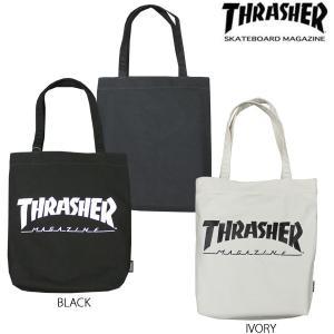 スラッシャー THRASHER トートバック ブラック 黒 アイボリー メンズ MAG LOGO CANVAS TOTE BAG rifflepage