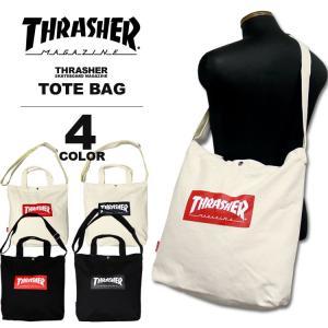 スラッシャー THRASHER トートバック BOX MAG CANVAS LARGE TOTE BAG キャンバス メンズ レディース 全4色|rifflepage