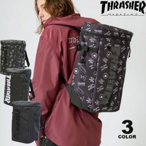 (公式)スラッシャー リュック バッグ THRASHER BACK PACK BOX 25L デイバック バックパック メンズ レディース ユニセックス 全3色|rifflepage