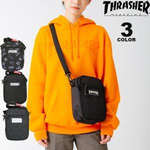 (公式)スラッシャー ショルダーポーチ THRASHER SHOULDER POUCH BAG ショルダーバック メンズ レディース ユニセックス 全3色|rifflepage