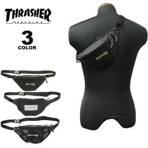 (公式)スラッシャー ウエストバッグ THRASHER WAIST BAG S ウエストポーチ ショルダーバック ボディバック メンズ レディース ユニセックス 全3色|rifflepage
