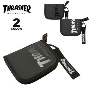 (公式)スラッシャー ウォレット 財布 THRASHER PVC TARPAULIN ROUND WALLET メンズ レディース ユニセックス 全2色|rifflepage