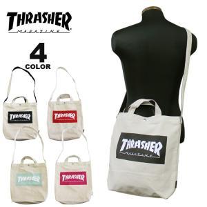 (公式)スラッシャー ショルダーバック THRASHER CANVAS 2WAY SHOULDER BAG ショルダートート トートバック メンズ レディース ユニセックス 全4色|rifflepage