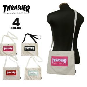 (公式)スラッシャー サコッシュ THRASHER CANVAS SACOCHE ショルダーバック メンズ レディース ユニセックス 全4色|rifflepage