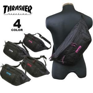 (公式)スラッシャー ウエストバッグ THRASHER BENCHMARK WAIST BAG L ボディバック メンズ レディース ユニセックス 全4色|rifflepage