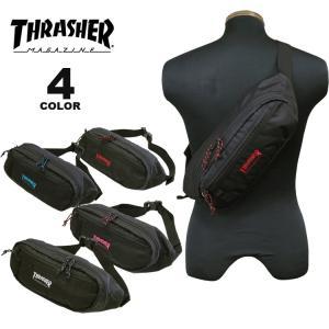 (公式)スラッシャー ウエストバッグ THRASHER BENCHMARK WAIST BAG S ウエストポーチ ボディバック メンズ レディース ユニセックス 全4色|rifflepage