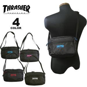 (公式)スラッシャー ショルダーポーチ THRASHER BENCHMARK SHOULDER POUCH BAG バック ミニ メンズ レディース 撥水 全4色|rifflepage