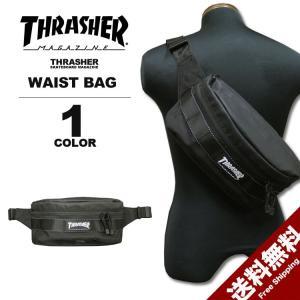 スラッシャー THRASHER バック BALLISTIC NYLON WAIST BAG ウェストバック メンズ ブラック 黒 rifflepage