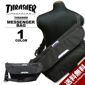 スラッシャー THRASHER バック BALLISTIC NYLON MESSENGER BAG メッセンジャーバック メンズ ブラック 黒 rifflepage