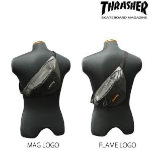 スラッシャー THRASHER ウエストバック ヒップバック SMALL WAIST BAG メンズ MAGネーム FLAMEネーム rifflepage