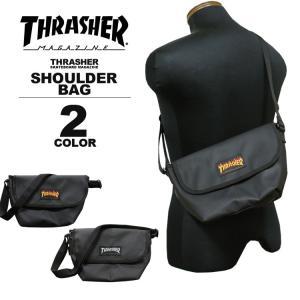 スラッシャー THRASHER ショルダーバック MINI SHOULDER BAG ショルダーバック ポーチ ミニ メンズ レディース ブラック 黒 rifflepage