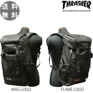 スラッシャー THRASHER バックパック BACK PACK リュック メンズ TR SKATE MAGネーム FLAMEネーム rifflepage