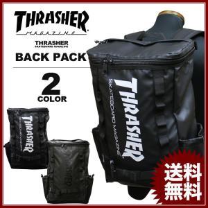スラッシャー THRASHER リュック MAG LOGO SQUARE BACK PACK デイバック メンズ レディース バックパック ブラック rifflepage